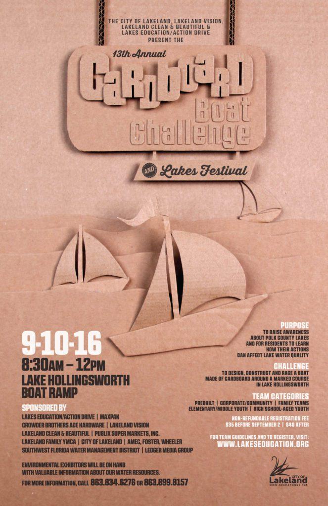 Cardboard Boat Challenge Poster 2016
