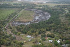 Overview of Lake Gwyn Wetland Project during Construction